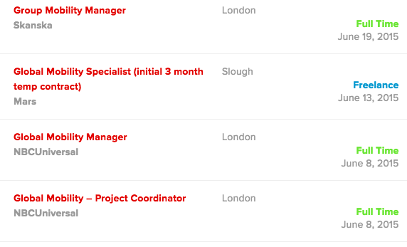 June Jobs For Global Mobility